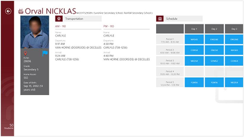 Hall Monitor Student Profile